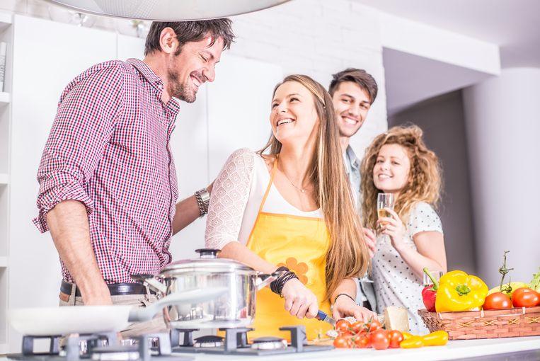 Dagelijks koken doen we niet meer, maar in het weekend trekken we wel alle registers open. Beeld Thinkstock