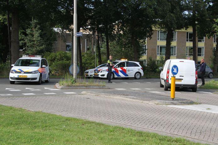 Bij het ongeluk in Colmschate raakte een fietser gewond.