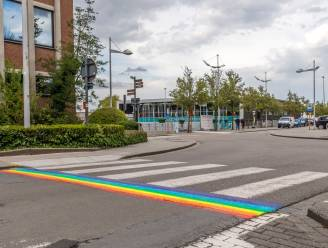 """Eerste regenboogzebrapad van Tielt is een feit, oppositie teleurgesteld over uitvoering: """"Willen, maar niet kunnen"""""""
