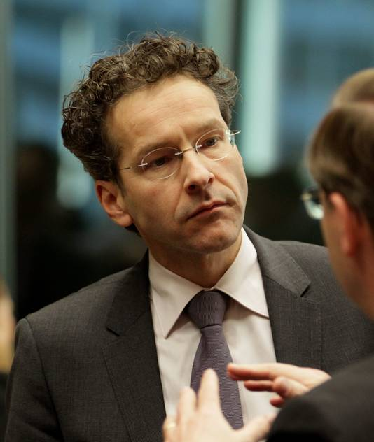 Minister Dijsselbloem in Brussel in december.