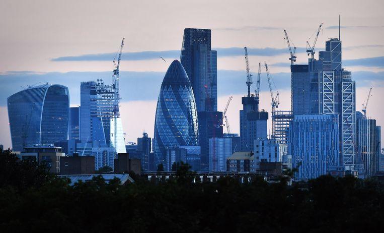 Skyline van het financiële hart van Londen. Beeld EPA
