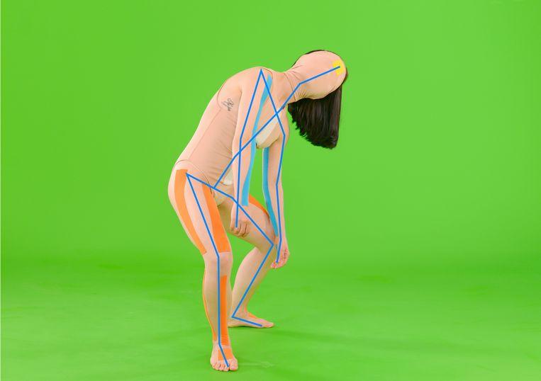 Still uit Infinite Posture Dataset (2020) van Coralie Vogelaar.  Beeld -