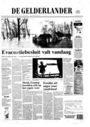 Voorpagina van de Gelderlander van 25 jaar geleden, 30 januari 1995.