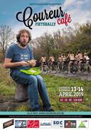 De vorige flyer van Coureur Café, in 2019.