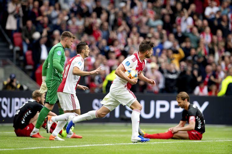 Huntelaar maakte de 1-1.