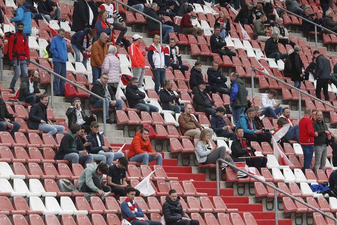 Een beperkt aantal supporters mocht afgelopen mei tijdens de thuiswedstrijd tegen FC Groningen de Galgenwaard in.
