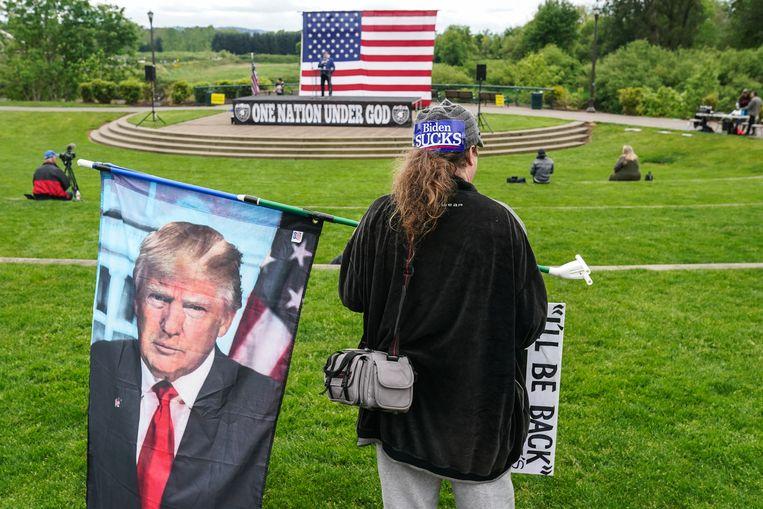 Nu zelfs een president van de VS het zwijgen kan worden opgelegd, is er de vraag wie zo machtig is daarover te oordelen. Beeld Getty Images