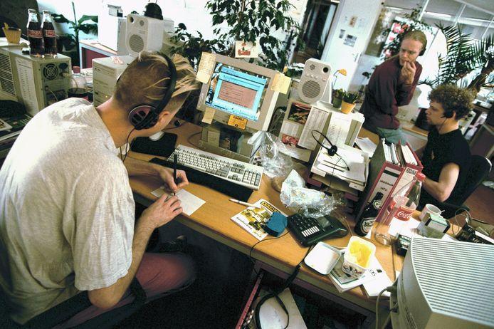 De helpdesk van Xs4all in Amsterdam in 1998.