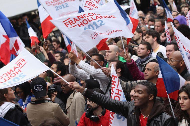 Aanhangers van Hollande. Beeld getty
