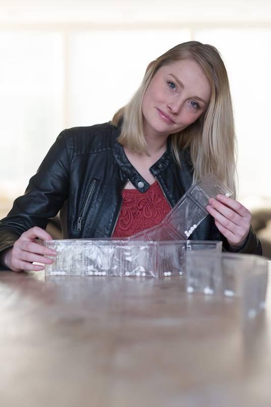 Tess Janssen met haar taperingstrip