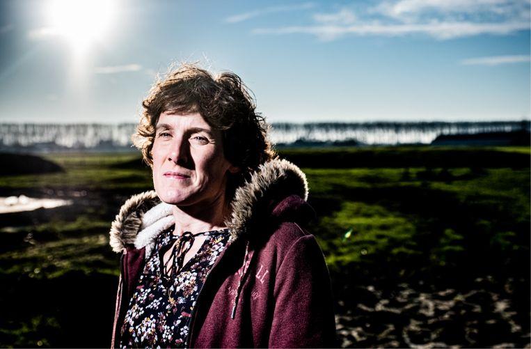 Els Vanneste: 'Wij boeren hadden evengoed in de klimaatmarsen kunnen meelopen, want de klimaatverandering grijpt in op ons inkomen.' Beeld Wouter Van Vaerenbergh