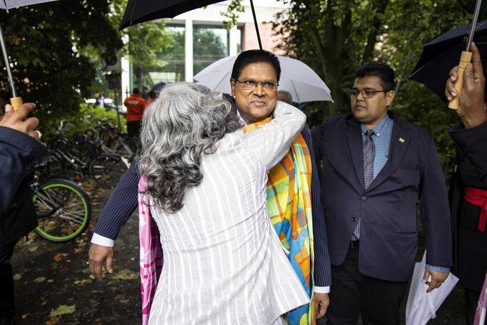 De Surinaamse president Chan Santokhi tijdens zijn werkbezoek aan Nederland, eerder deze maand.