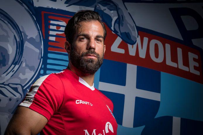 Doelman Kostas Lamprou, transfervrij overgenomen van RKC Waalwijk, is bij PEC de vervanger van Xavier Mous.