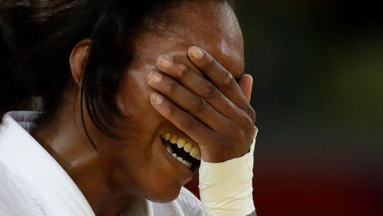 Anicka van Emden na het winnen van brons op de Spelen in Rio. Beeld null