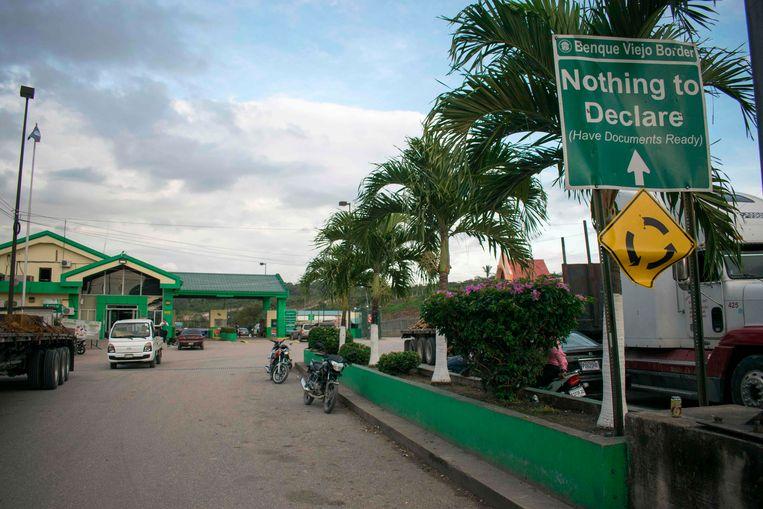 De grens tussen Guatemala en Belize. Beeld AFP