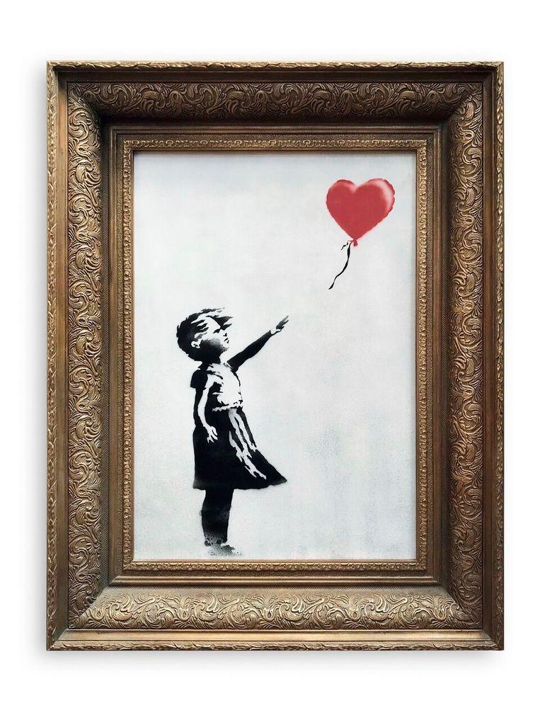 'Girl with Balloon' door Banksy. Beeld AP