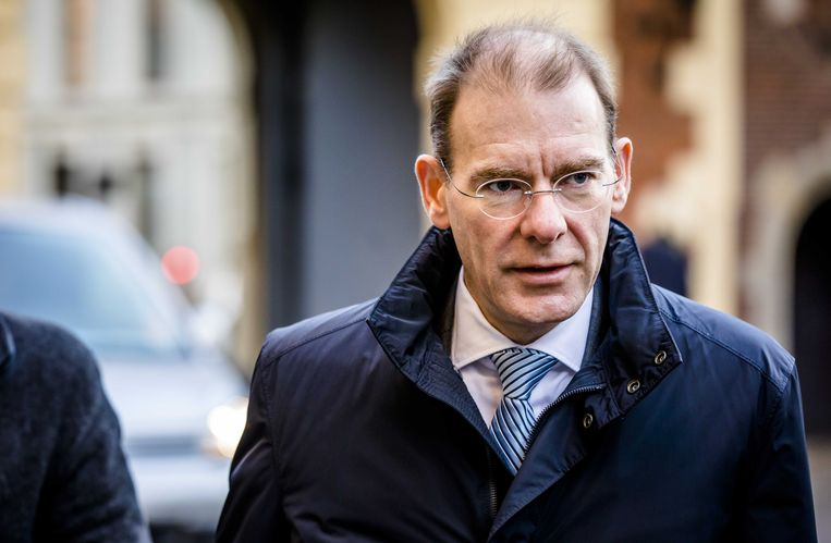 Staatssecretaris Menno Snel van Financiën op het Binnenhof.  Beeld ANP - Bart Maat