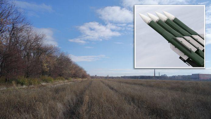 Vanuit dit veld nabij Snizjne zou een raket zijn afgevuurd op Malaysia Airnlines vlucht MH17.