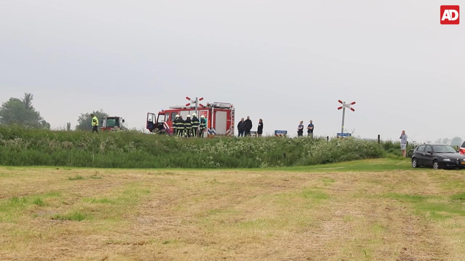 Hulpdiensten ter plaatse bij het incident in Boazum.