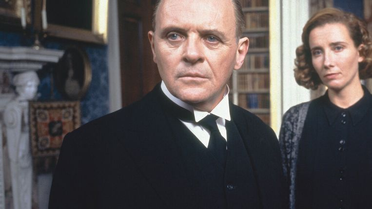 Anthony Hopkins en Emma Thompson in The Remains of the Day (1993). Beeld
