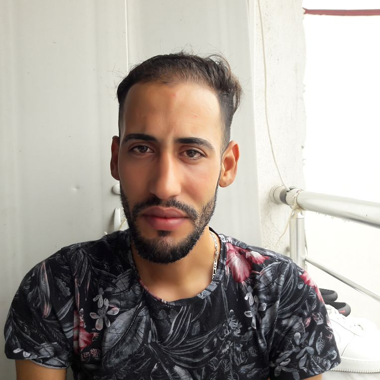Marwen (27), migrant uit Marokko die probeert via Turkije Griekenland te bereiken. Beeld