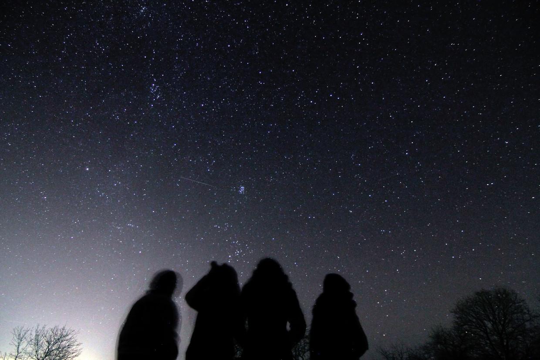 Waarnemers bekijken in 2014 de 'sterrenregen' die wordt veroorzaakt door de jaarlijkse passage van de Geminiden, een meteorenzwerm.