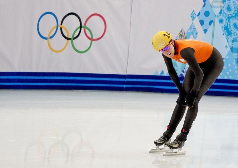 Ter Mors, hier op shorttrackschaatsen, na haar teleurstellende rit op de 1500 meter Beeld anp