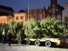 Kerstboom uit Kongsberg komt aan op Goudse Markt