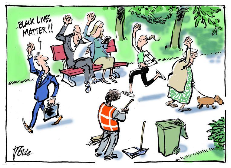 De winnende cartoon van Tom Janssen. Beeld Tom Janssen