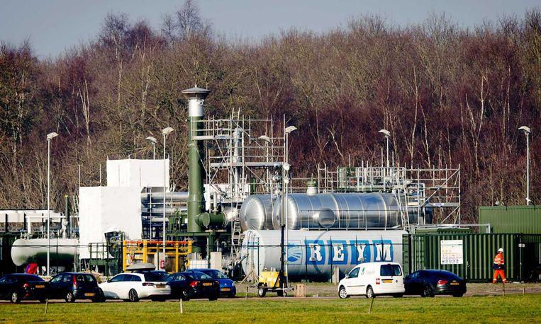Gaswinning door Tulip Oil bij de Friese plaats Hemrik. Beeld anp