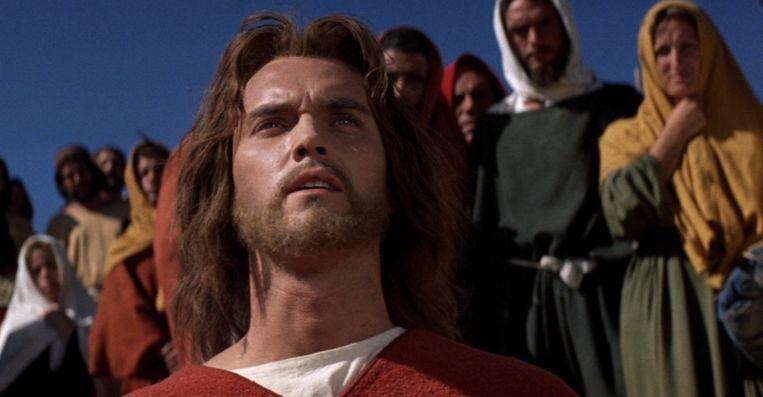 Jeffrey Hunter in King of Kings van Nicholas Ray Beeld