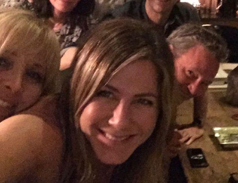 Jennifer Aniston met haar debuutfoto op Instagram.