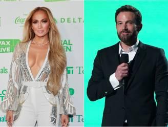 Ben Affleck en Jennifer Lopez al kussend gespot tijdens restaurantbezoek