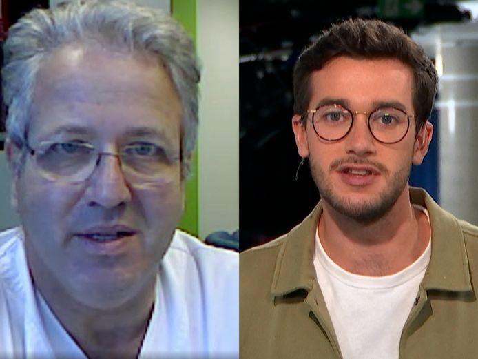 Spoedarts Jan Stroobants en onze journalist Stijn Defoirdt.