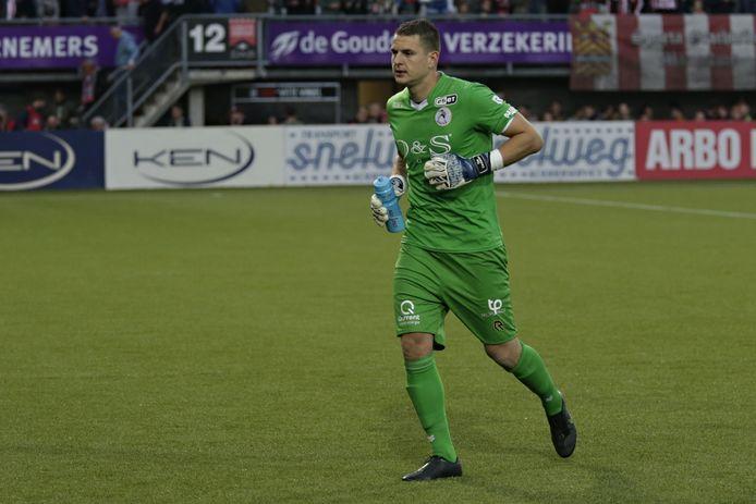 Tim Coremans tijdens het eerste duel met De Graafschap.