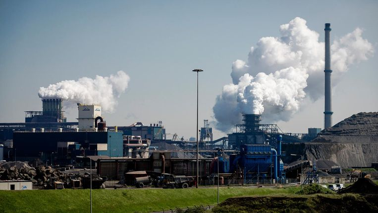 De hoogovens van staalbedrijf Tata Steel in IJmuiden. Beeld anp
