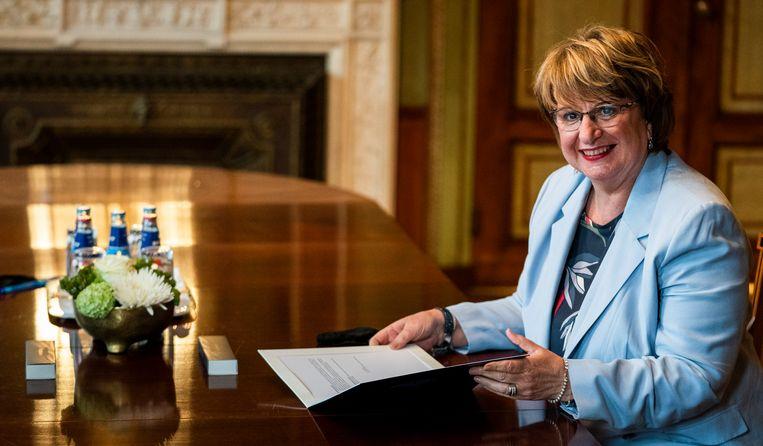 Informateur Mariëtte Hamer koerst mogelijk af op een links kabinet. Beeld Freek van den Bergh / de Volkskrant