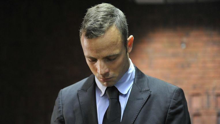 Pistorius vandaag bij de zitting over een eventuele borgtocht. Beeld getty