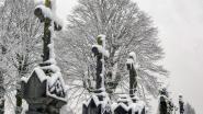 FOTOREEKS 3. Nog stiller op begraafplaats Sint-Jan, door de sneeuw