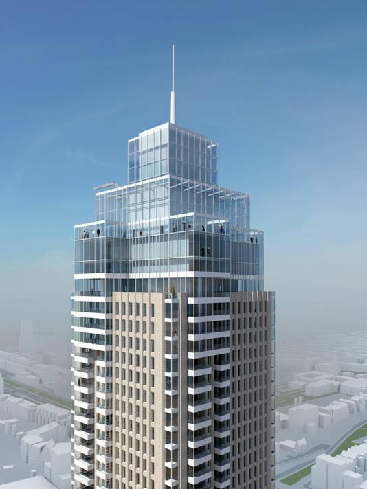 De top van de toren.
