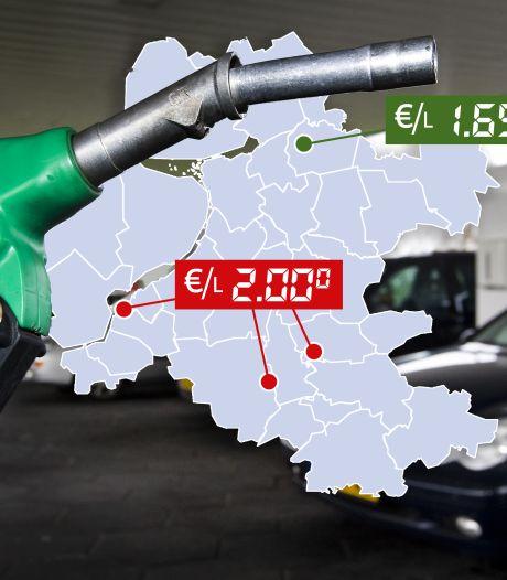 Grens van 2 euro is bereikt: dit zijn de duurste (en goedkoopste) tankstations in Oost-Nederland