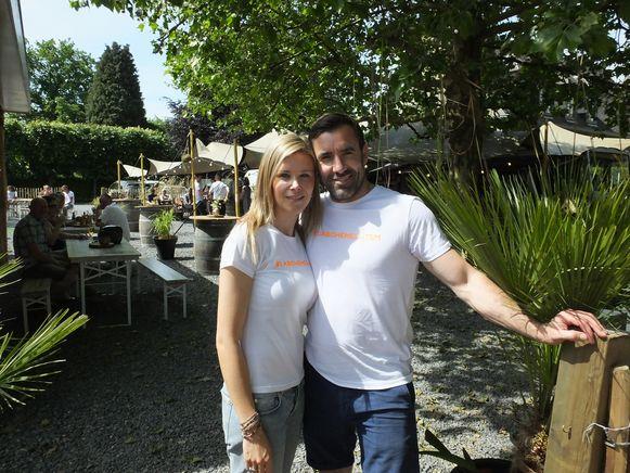 Alex Maes en zijn vrouw Stefanie bij La Bohème.