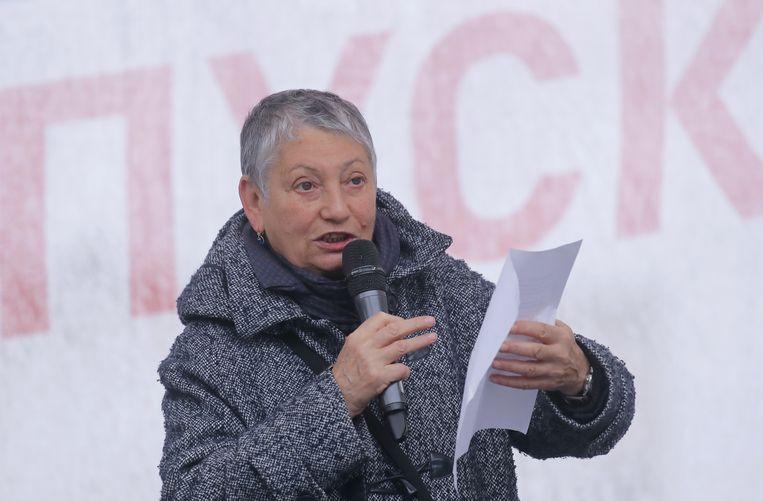 De Russische schrijfster Lyudmila Ulitskaya wordt als een belangrijke kanshebber gezien voor de Nobelprijs Literatuur. Beeld REUTERS