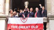 Antwerp definitief naar 1A, dus worden fans getrakteerd op beelden van kampioenenhuldiging