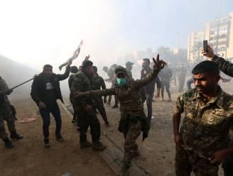 Nog altijd onrustig voor Amerikaanse ambassade in Bagdad: traangas ingezet