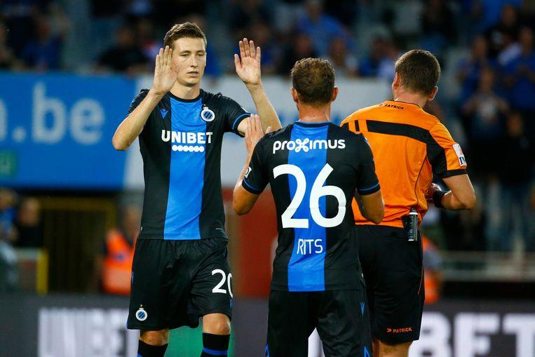 Unibet is shirtsponsor van Club Brugge. Beeld Photo News