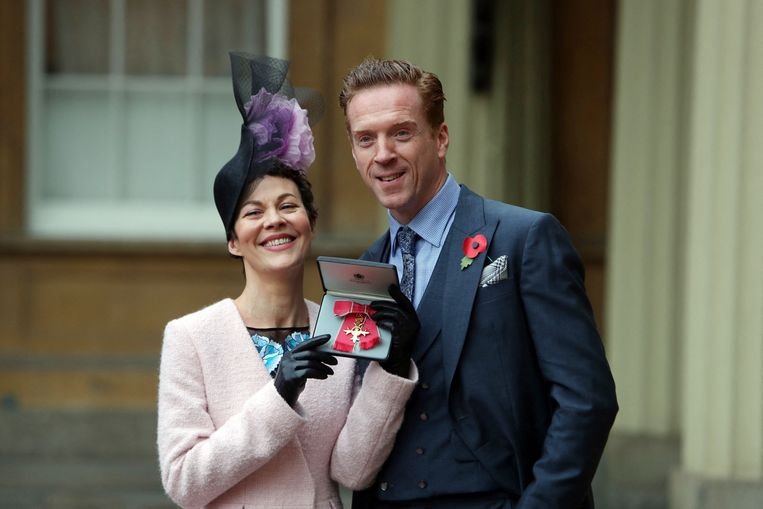 Helen McCrory met haar echtgenoot, acteur Damian Lewis. Beeld AFP