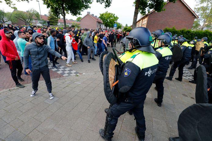 De vorige demonstratie van Pegida leidden dankzij tegenacties tot ongeregeldheden in Eindhoven.