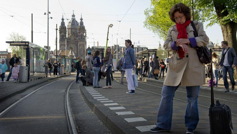 Het openbaar vervoer moet met deze maatregel vaker op tijd gaan rijden. Beeld ANP
