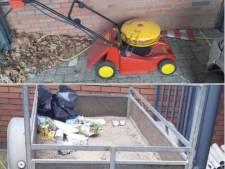 Iemand die aanhangwagen met grasmaaier verloren in Veenendaal?
